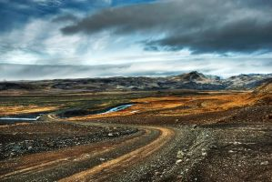 Iceland-follow with the clouds by PatiMakowska