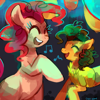 Party Ponies by Cherkivi