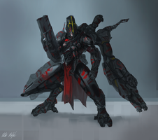 EXO Redeemer Omega Battle Armor by PeterPrime
