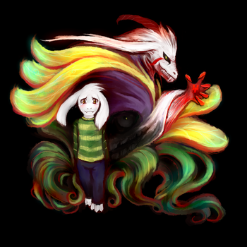 Asriel by dzetaWMDunion