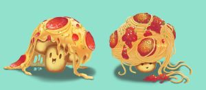 Pizza Pasta Shrooms by BabaKinkin
