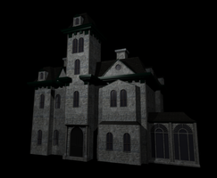addams house - textured by jamesapfairlie