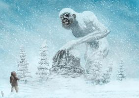 giant white monkey by EdwardDelandreArt