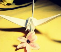 Origami-cran. by h23b