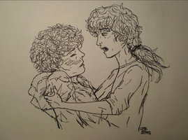 Enjolras Finds Grantaire by Audreyfan1001