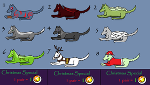 1 point Cheap Wolves, Create your own pack :D by DarkerHours