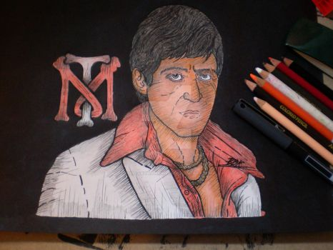 Scarface II (color, request) by SpaniardWithKnives