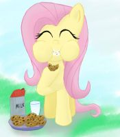 Cookie and milk Fluttershy by Infera1