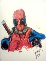 Deadpool sketch by bloodcult