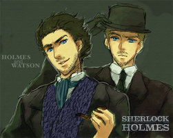 Holmes and Watson by Klunatic