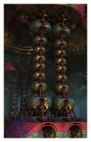 Psychedelic Gilded Columns by EricTonArts