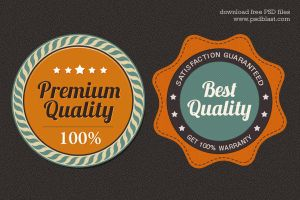 Free Premium Quality Web Badge (PSD) by psdblast
