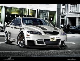 MazdaSpeed6 in city by steelwagon6