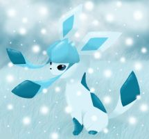 Glaceon Snow Cloak by Bluekiss131