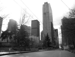 Seattle In Black And White by j-dub