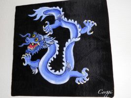 Chinese dragon painting by corpitin