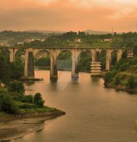 iron bridge Marco de Canaveses by FlavioRodrigues