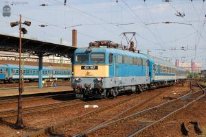 431 167 with an IC train in Budapest by morpheus880223