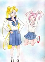 Happy Birthday, Usagi + Chibi Usa!! by PrincessLaguia