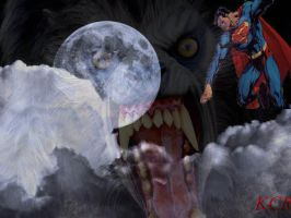 Superman vs werewolf by kswang