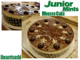 Junior Mint Mousse Cake by ihearrtsushi