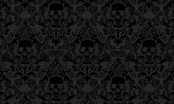 Skull Damask by spiderkid321