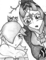 Midna and Rosalina by Foxtail-89