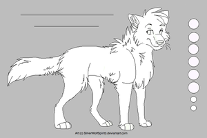 :MS Paint: Wolf Ref Lineart by Rianach