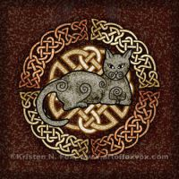 Celtic Cat by foxvox