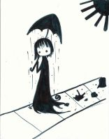 It rains in my umbrella by DarkDevi