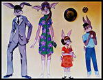 1960's Rabbit Family by FlapperFoxy