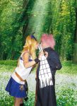 'Natsu, can I have your scarf?' - Nalu Cosplay by ActiveAngel