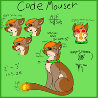 CodeMouser Species Reference Sheet. by Jolts-of-Blue