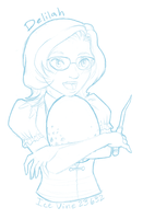 Pottermore Sketch -Delilah- by Ukeaco