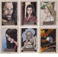Lord of the Rings cards E by tonyperna