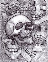 Skull Sketch 4-2014 by myconius
