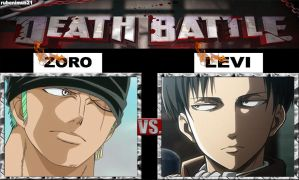 Roronoa Zoro vs Rivaille/Levi - Death Battle by rubenimus21
