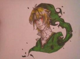 drawing of Ben drowned by FrozenPearlQWQ