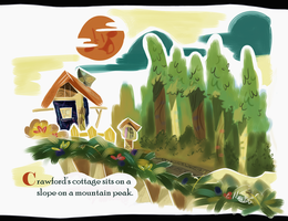 Crawford's Cottage-- Little Golden Books Tribute by SkitSTUDIOS