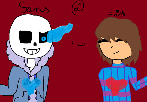[Undertale] SANS AND FRISK = LOVE XD :3 by LolitaChanYT