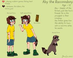 Aby the Raccoonboy by AmberTDW