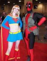 Deadpool and Supergirl by Tiny-Nami