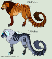 Mutated Feline Adopts 02 :CLOSED: by flannelRaptors