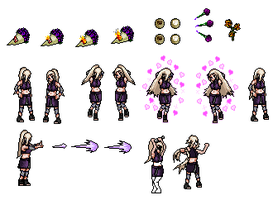 Shippuden Ino sprites UPDATED by SirValkor