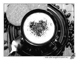 ...Cup of Coffee in b-w... by Moth-called-Marigold