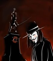 V for Vendetta en Tiquicia by rafaespinoza