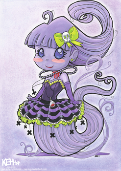 Chibi Ghost Girl - Commission by tea-bug