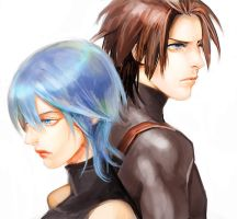 Doodle: Terra and Aqua by superspacemonkey