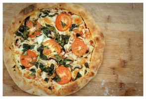 Tomato and Basil Pizza by DoodleBe