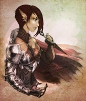 Armored Elven Chick by Blueberry-Cat